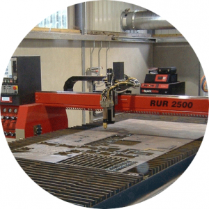 Plasma-laser-cutting-machine-at-work